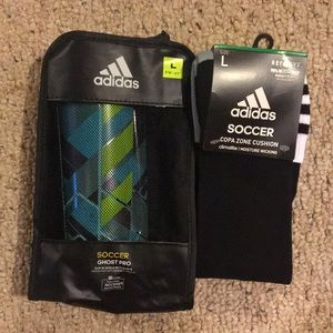 Soccer Shinguards and socks